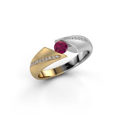 Foto van Ring Hojalien 2 585 goud rhodoliet 4 mm