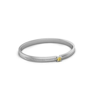 Armband Myrthe 585 witgoud gele saffier 4 mm