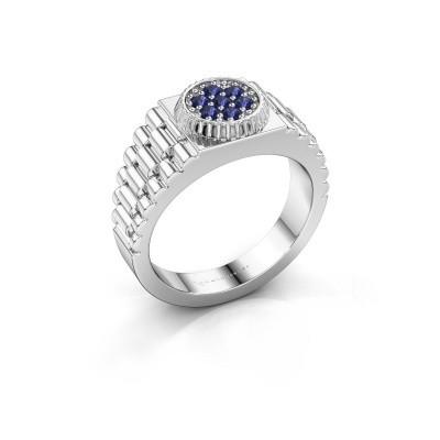 Foto van Rolex stijl ring Nout 585 witgoud saffier 2 mm