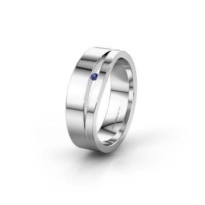Trouwring WH6000L16AP 925 zilver saffier ±6x1.7 mm
