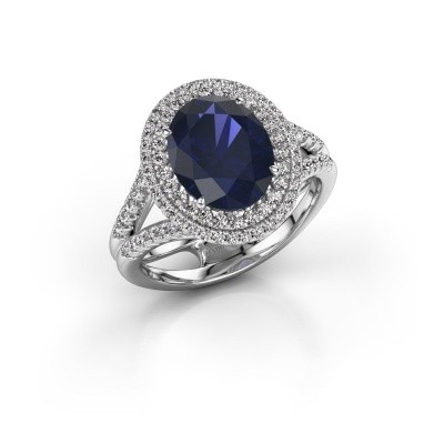 Picture of Engagement ring Elvie 585 white gold sapphire 10x8 mm