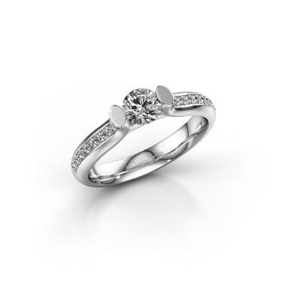 Foto van Verlovingsring Ashlyn 2 925 zilver diamant 0.592 crt