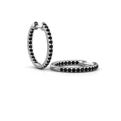 Foto van Creolen Jackie 15 mm B 950 platina zwarte diamant 1.296 crt