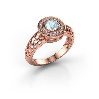 Picture of Ring Katalina 375 rose gold aquamarine 5 mm