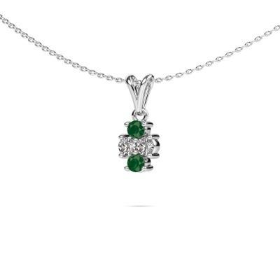 Foto van Ketting Richelle 585 witgoud smaragd 3 mm