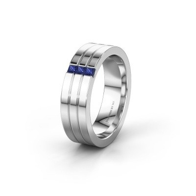 Wedding ring WH0428L16BP 925 silver sapphire ±0.24x0.08 in