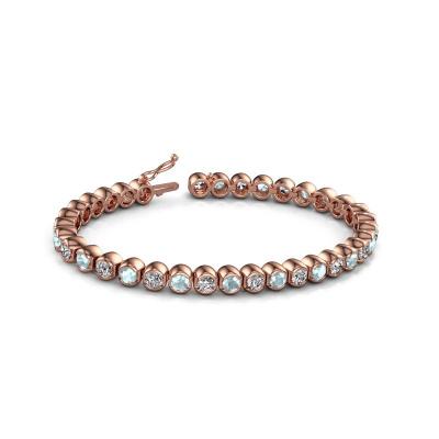 Picture of Tennis bracelet Bianca 4 mm 375 rose gold aquamarine 4 mm