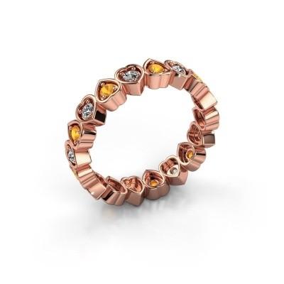 Stackable ring Pleun 375 rose gold citrin 2 mm