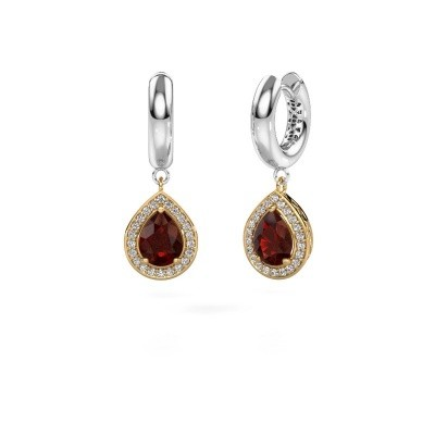 Picture of Drop earrings Barbar 1 585 gold garnet 8x6 mm