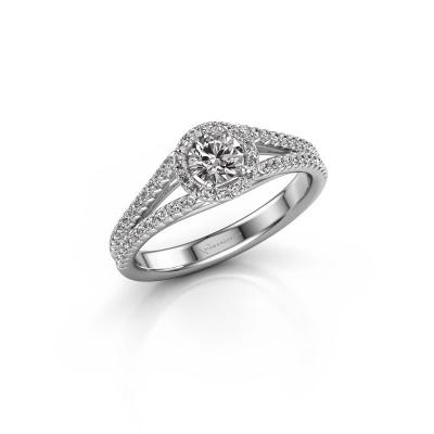 Bild von Verlobungsring Verla rnd 2 585 Weißgold Diamant 0.745 crt