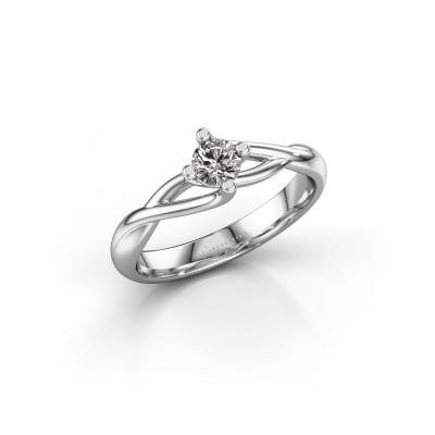 Foto van Ring Paulien 585 witgoud diamant 0.25 crt