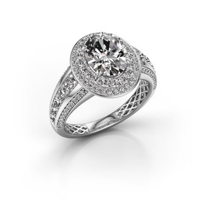 Engagement ring Nancie 950 platinum diamond 2.89 crt