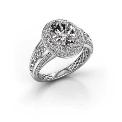 Verlovingsring Nancie 950 platina diamant 2.89 crt