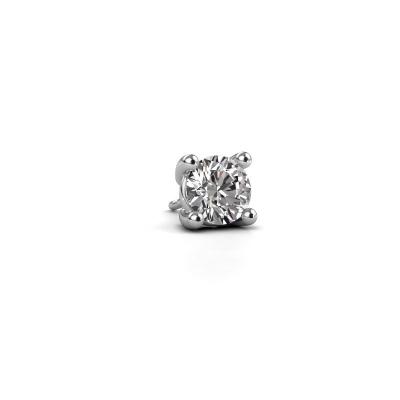 Photo de Boucle d'oreille homme Dave RND 585 or blanc diamant synthétique 1.00 crt