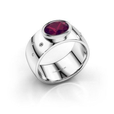Ring Wilma 2 925 zilver rhodoliet 8x6 mm