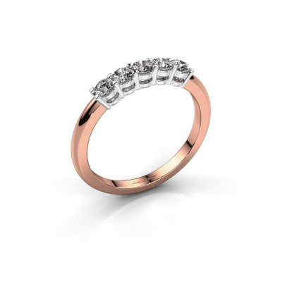 Foto van Promise ring Michelle 5 585 rosé goud zirkonia 2.7 mm