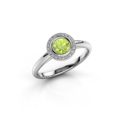 Picture of Promise ring Noud 1 RND 925 silver peridot 4.7 mm