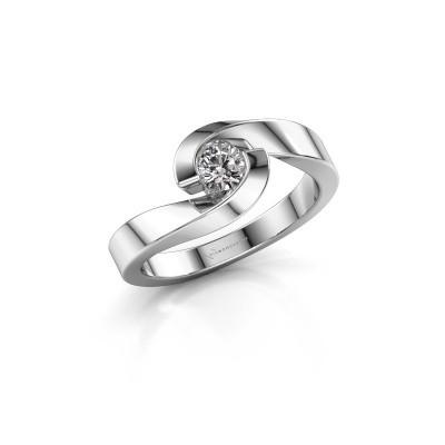 Foto van Ring Sheryl 950 platina zirkonia 4 mm
