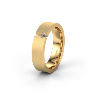 Picture of Wedding ring WH0120L15BM 375 gold diamond ±5x2 mm