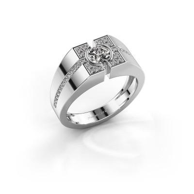 Foto van Herenring Thijmen 375 witgoud diamant 0.755 crt