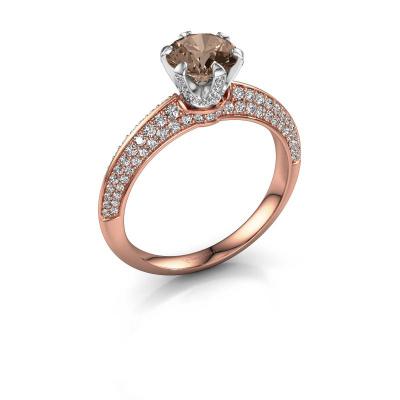 Bild von Verlobungsring Abby 585 Roségold Braun Diamant 1.65 crt