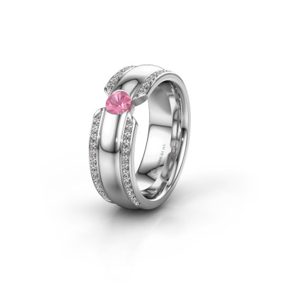 Ehering WHR0575L 925 Silber Pink Saphir ±7x2 mm