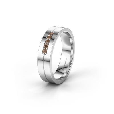 Trauring WH0211L15AP 925 Silber Braun Diamant ±5x1.7 mm