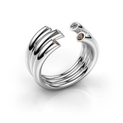 Foto van Ring Noelle 925 zilver rookkwarts 2.4 mm
