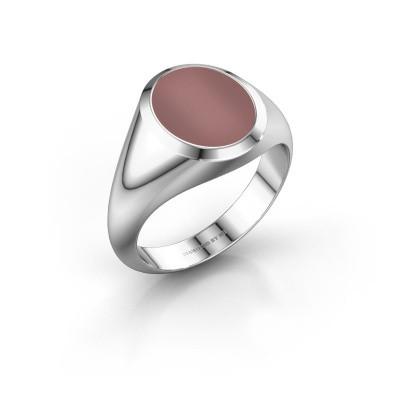 Signet ring Evon 2 950 platinum carnelian 12x10 mm