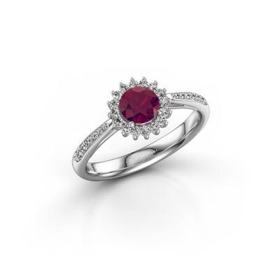 Engagement ring Tilly RND 2 585 white gold rhodolite 5 mm