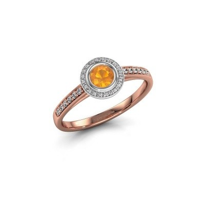 Picture of Engagement ring Noud 2 RND 585 rose gold citrin 4 mm