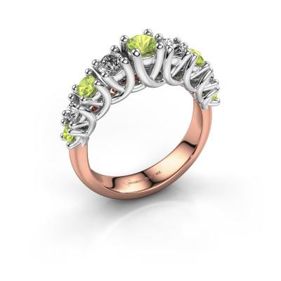 Engagement ring Fatima 585 rose gold peridot 3.7 mm