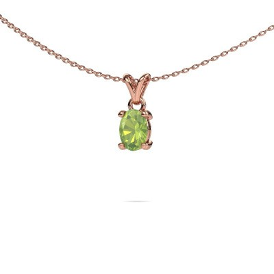Picture of Necklace Lucy 1 375 rose gold peridot 7x5 mm
