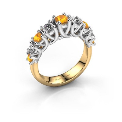 Engagement ring Fatima 585 gold citrin 3.7 mm