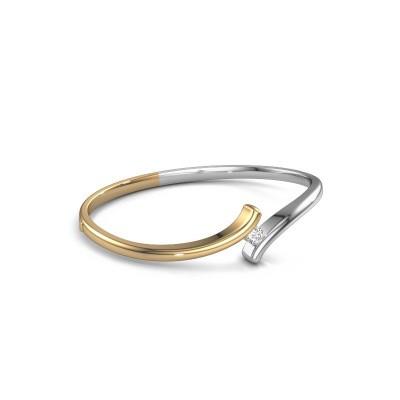Slavenarmband Amy 585 goud diamant 0.30 crt