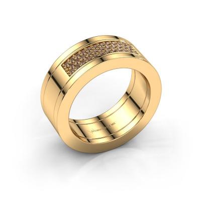 Bild von Ring Marita 1 585 Gold Braun Diamant 0.235 crt