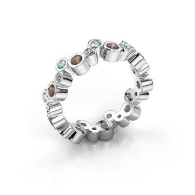 Picture of Ring Tessa 925 silver smokey quartz 2.5 mm