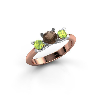 Ring Mirthe 585 rose gold smokey quartz 5 mm