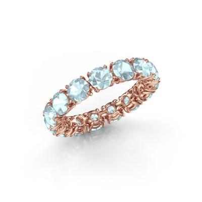 Foto van Ring Vivienne 4.2 375 rosé goud aquamarijn 4.2 mm