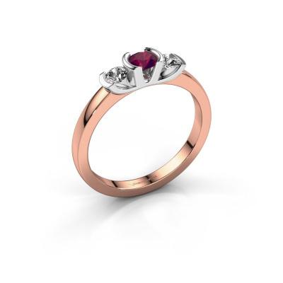 Ring Lucia 585 rose gold rhodolite 3.7 mm
