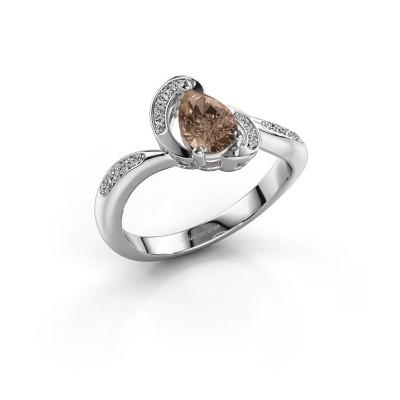 Bild von Ring Jonelle 585 Weissgold Braun Diamant 0.748 crt