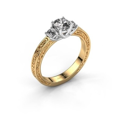Verlovingsring Betty 1 585 goud zirkonia 5 mm
