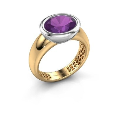 Ring Evelyne 585 goud amethist 10x8 mm