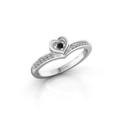 Ring Mimi 585 white gold black diamond 0.124 crt