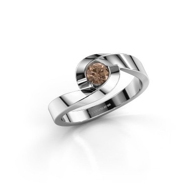 Picture of Ring Sheryl 950 platinum brown diamond 0.25 crt