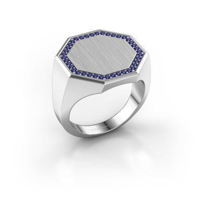 Heren ring Floris Octa 4 925 zilver saffier 1.2 mm