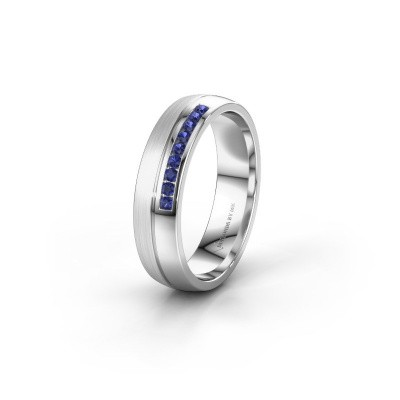 Wedding ring WH0209L25APM 925 silver sapphire ±0.20x0.07 in