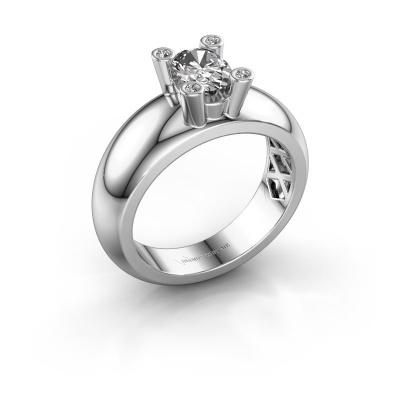 Ring Cornelia Oval 925 silver lab grown diamond 0.70 crt