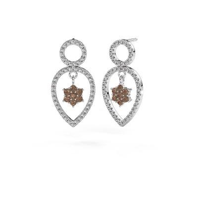 Foto van Oorhangers Lauralee 2 925 zilver bruine diamant 1.110 crt