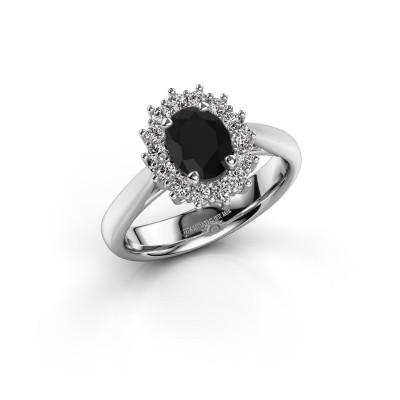 Verlobungsring Margien 1 925 Silber Schwarz Diamant 0.96 crt